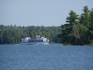 MS Kenora cruising towards Sioux Narrows