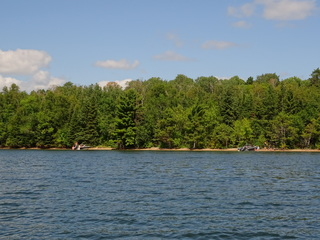 Timber island beach is a great place to swim and relax