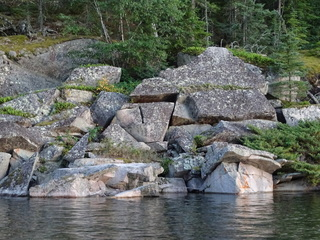 Rocky shorelines are common sight on Lake of the Woods