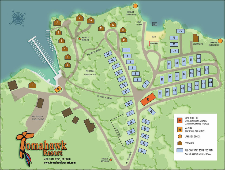 Map of Tomahawk Resort