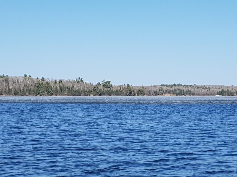 Looking north across to the main island