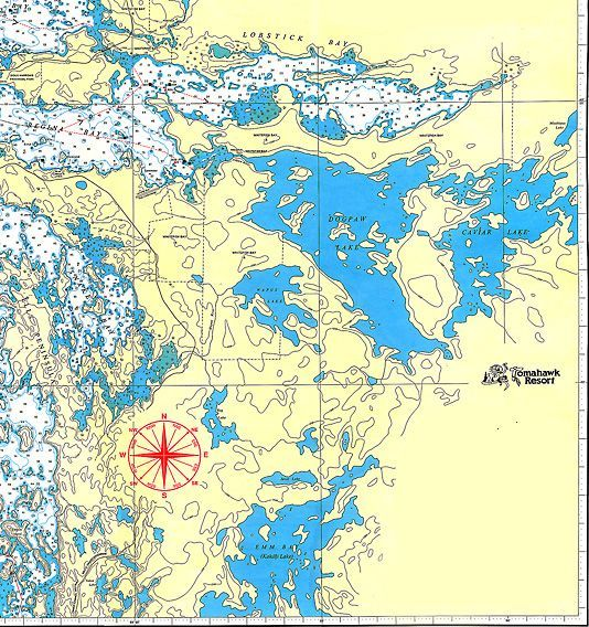 Map Of Lake Of The Woods Ontario Lake of the Woods Map for Houseboaters and Fishermen